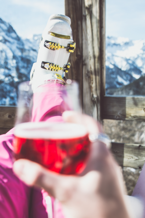 Canva - Woman Relaxing with a Glass of Wine and Enjoying